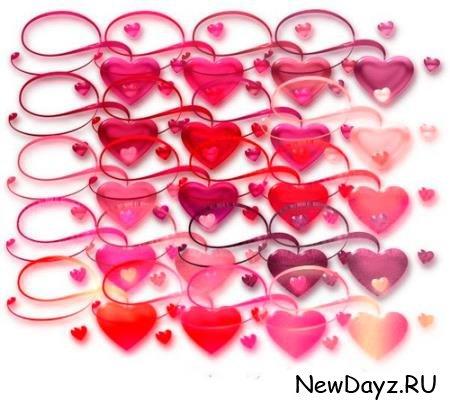 Клип-арты png - Сердца любви