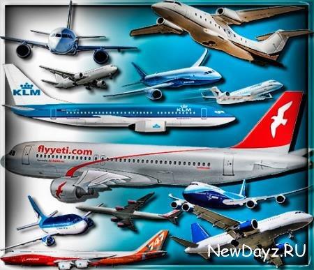 Png клипарты для фоторамки - Пассажирские самолеты