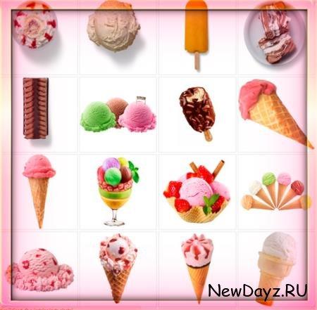 Растровые клипарты для фоторамок - Сорта мороженного