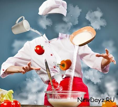 Шаблон psd - Магия кухни