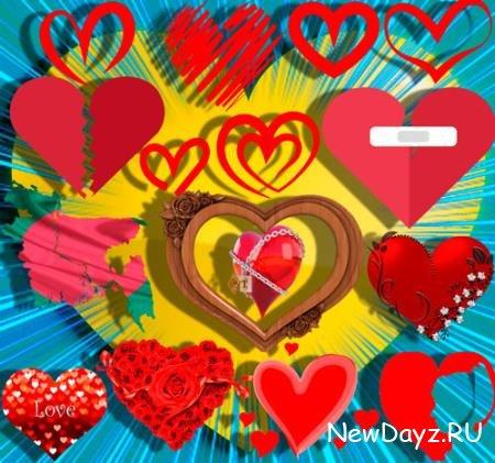 Png прозрачный фон - Любовное сердце