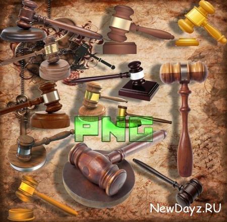 Png клипарты - Судейные молотки