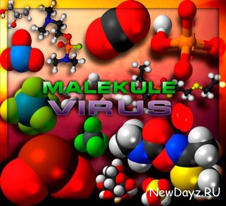 Клипарты без фона - Малекулы под микроскопом