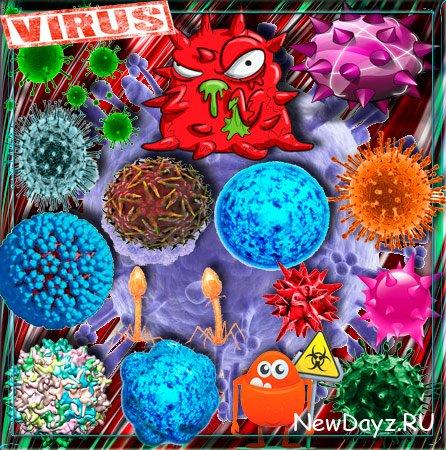 Png прозрачный фон - Вирусы, коронавирусы